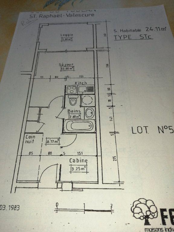 Appartement à vendre 1 24m2 à Saint-Raphaël vignette-13