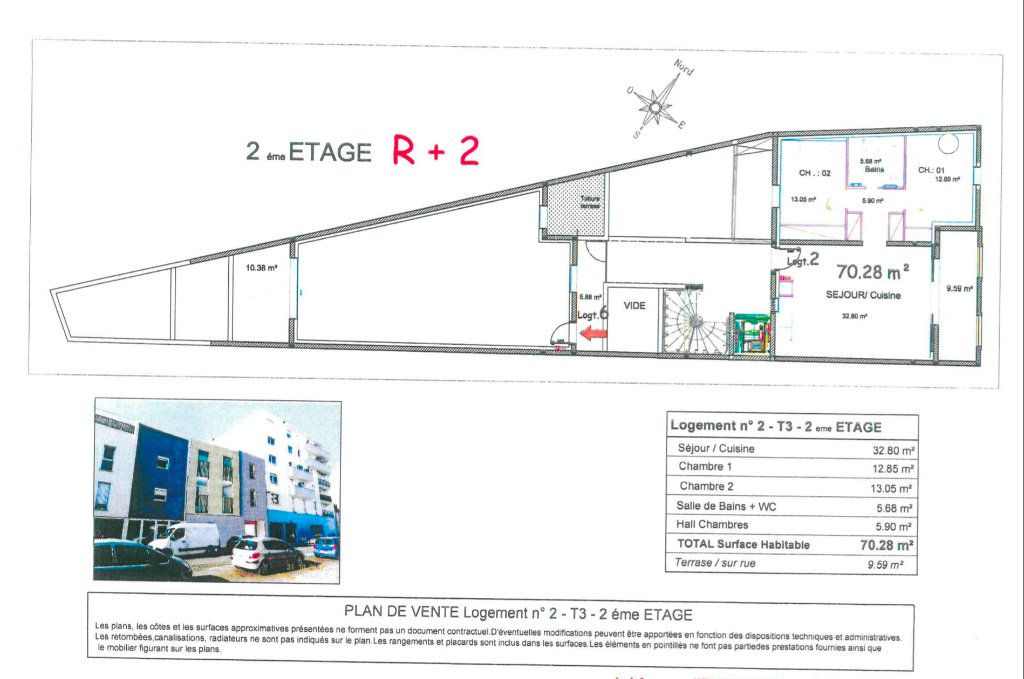 Appartement à vendre 3 70.28m2 à Nîmes vignette-1