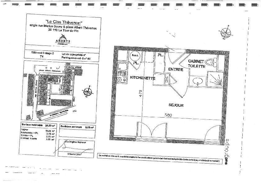 Appartement à vendre 1 26.2m2 à La Tour-du-Pin vignette-6