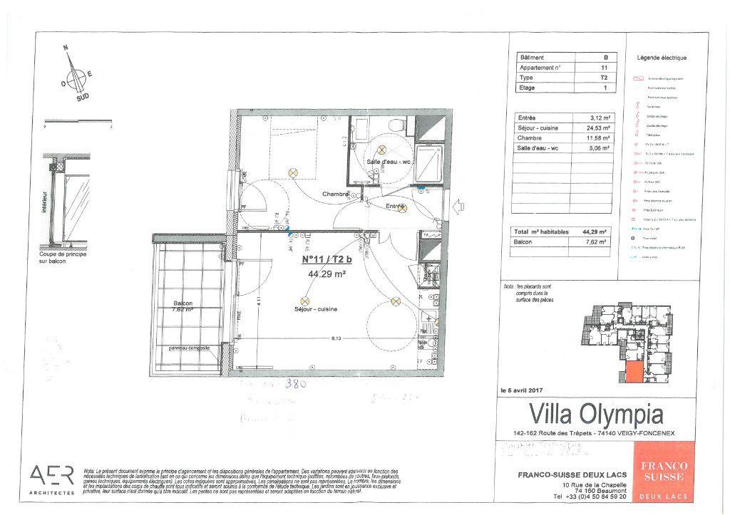 Appartement à louer 2 44.29m2 à Veigy-Foncenex vignette-16