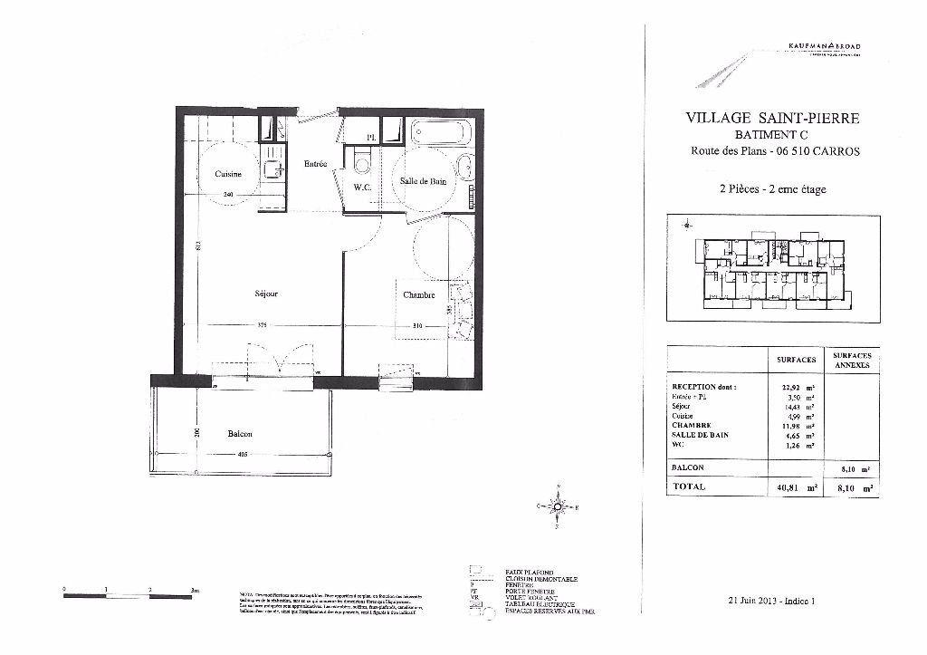 Appartement à louer 2 41m2 à Carros vignette-11