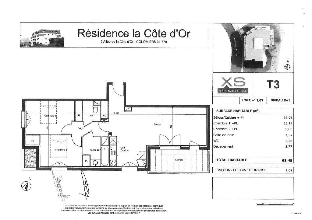Appartement à louer 3 68.45m2 à Colomiers vignette-7