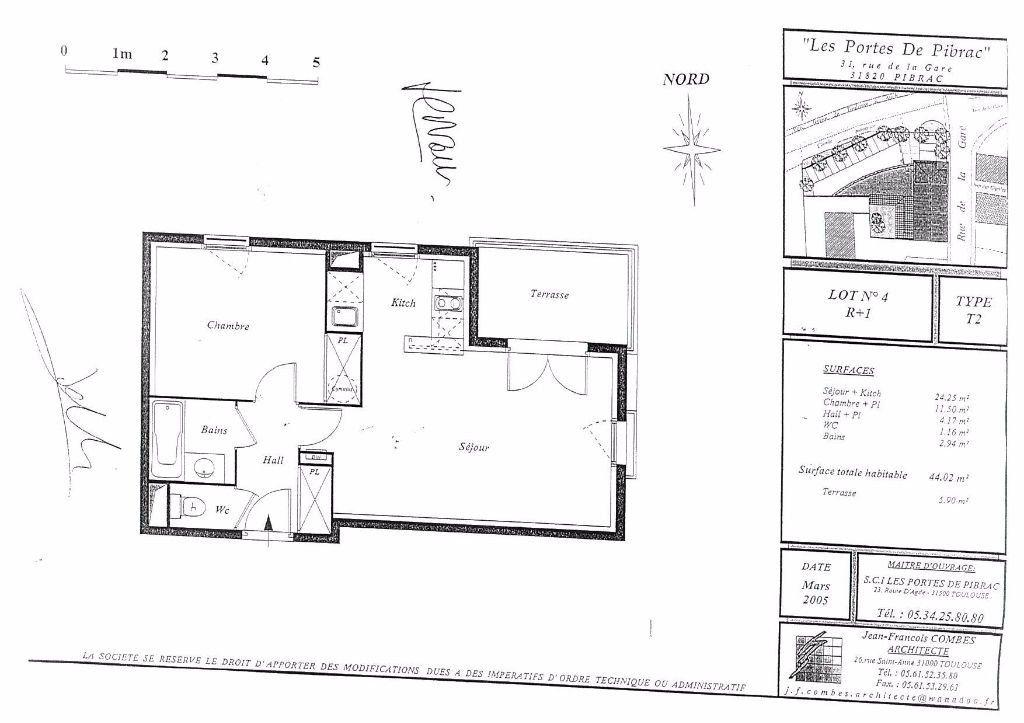 Appartement à louer 2 44.02m2 à Pibrac vignette-5