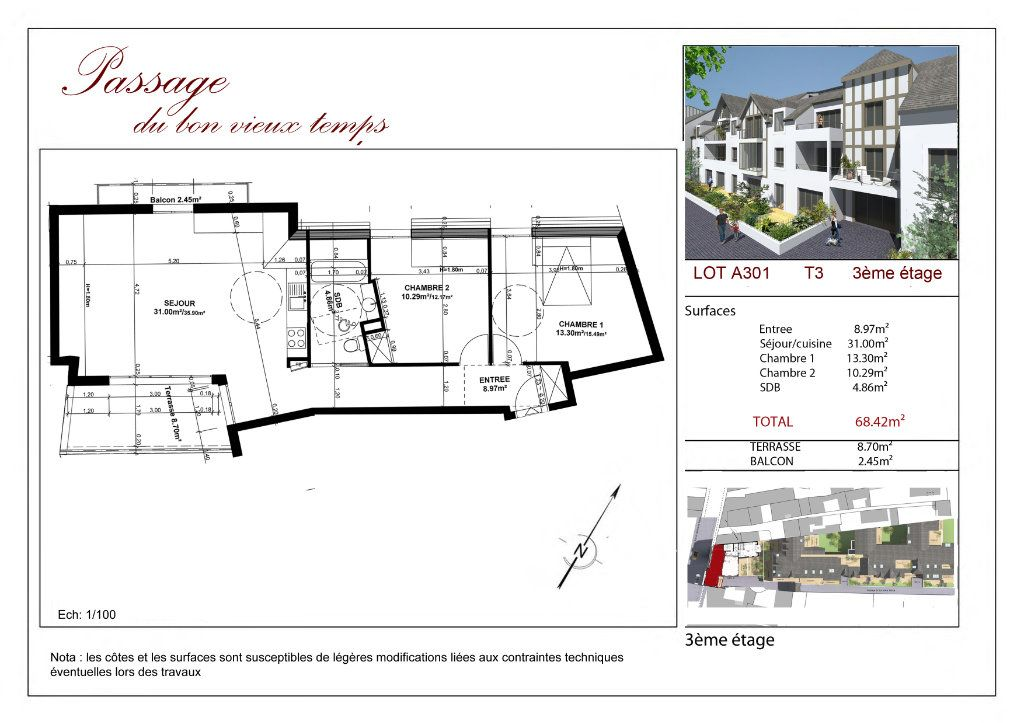 Appartement à vendre 3 68.42m2 à Villiers-sur-Marne vignette-4
