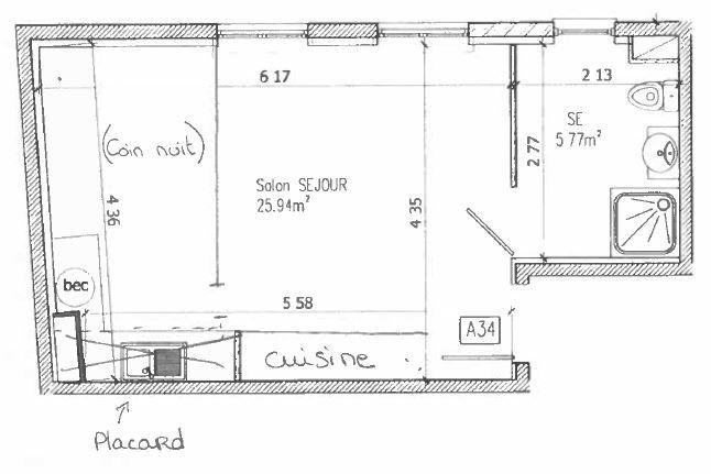 Appartement à louer 2 31.71m2 à Noisy-le-Grand vignette-6