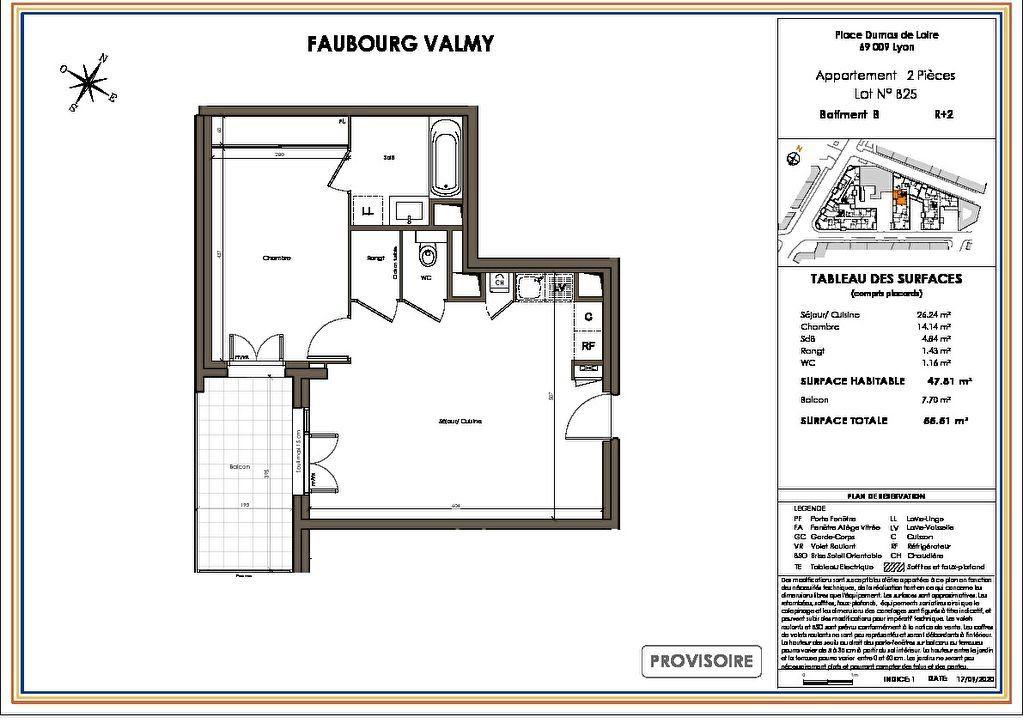 Appartement à vendre 2 47.81m2 à Lyon 9 vignette-1