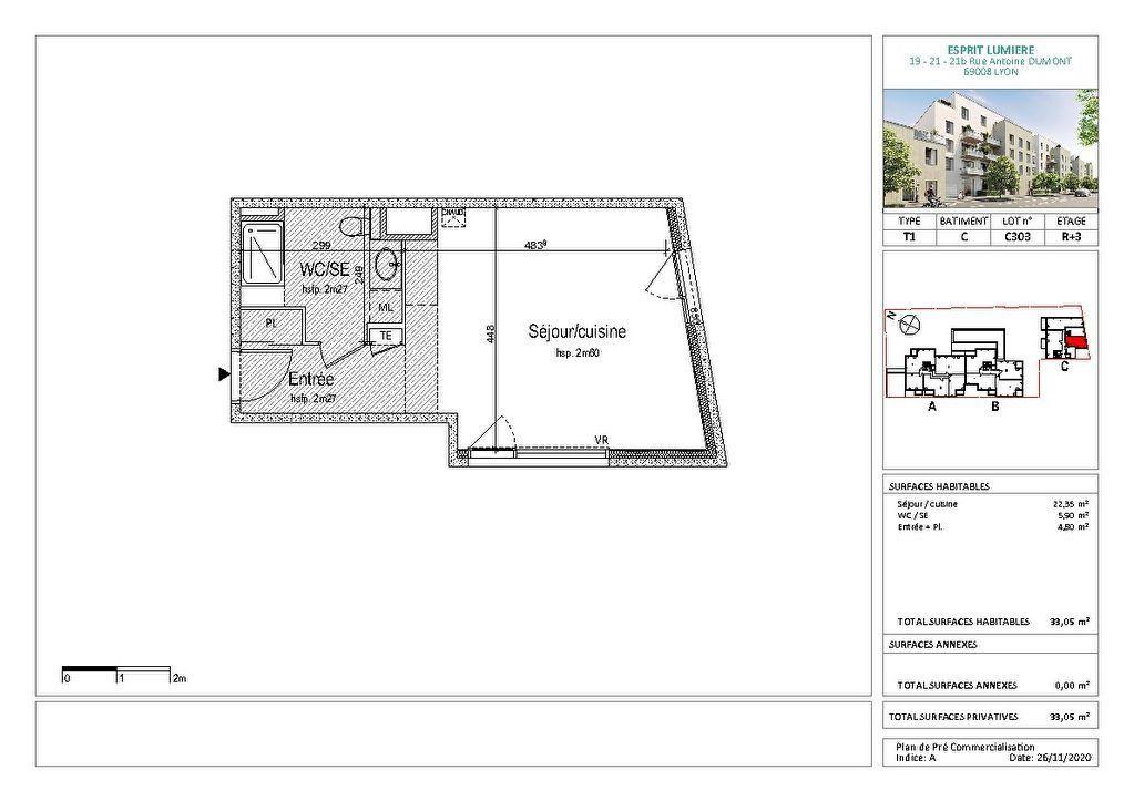 Appartement à vendre 1 33m2 à Lyon 8 vignette-2
