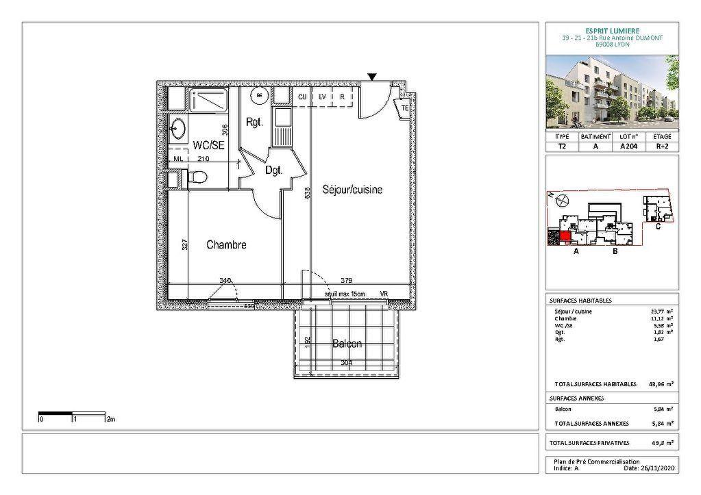 Appartement à vendre 2 43.96m2 à Lyon 8 vignette-2