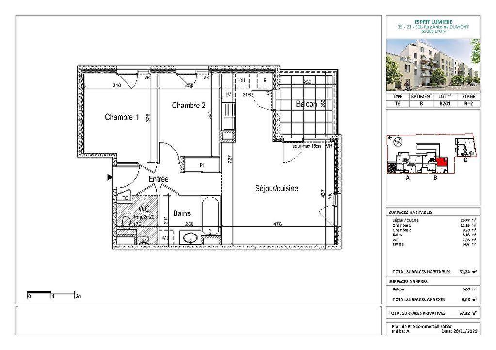 Appartement à vendre 3 61.24m2 à Lyon 8 vignette-2