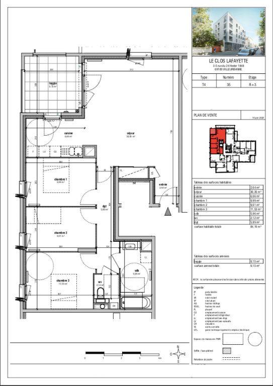Appartement à vendre 4 84m2 à Villeurbanne vignette-1