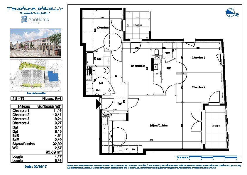 Appartement à vendre 5 95.89m2 à Dardilly vignette-2