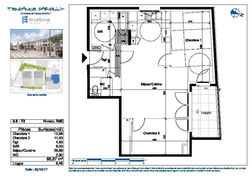 Appartement à vendre 3 66.87m2 à Dardilly vignette-2