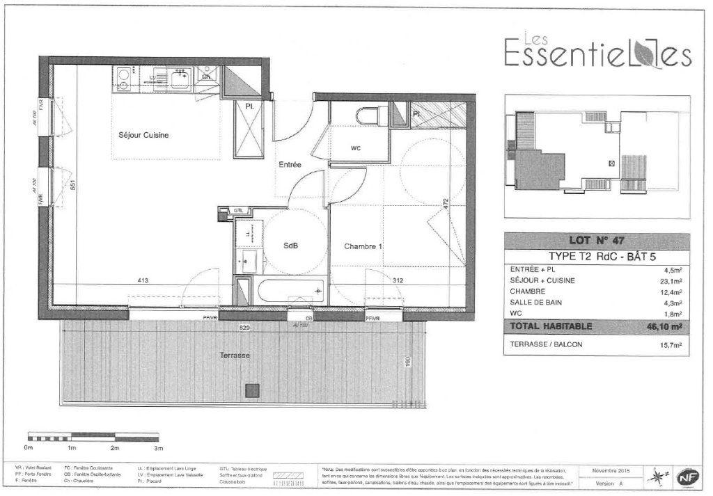 Appartement à louer 2 46.1m2 à Colomiers vignette-6