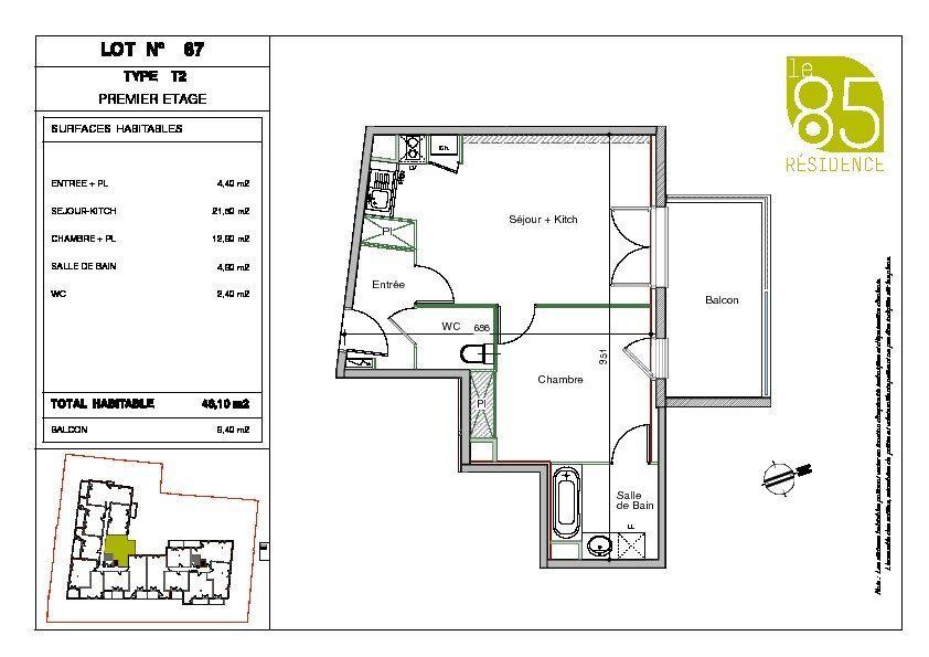 Appartement à louer 2 46.1m2 à Toulouse vignette-6