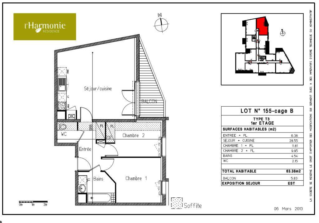 Appartement à louer 3 63.38m2 à Toulouse vignette-4