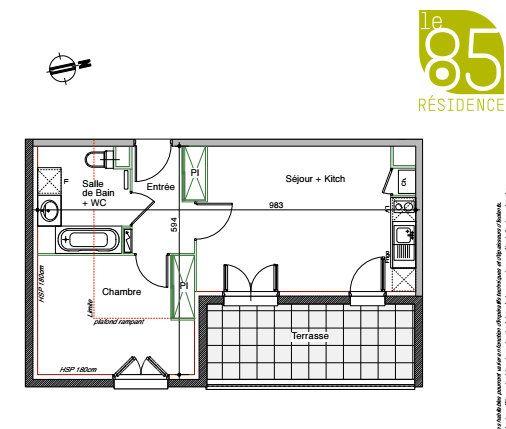 Appartement à louer 2 44.5m2 à Toulouse vignette-1