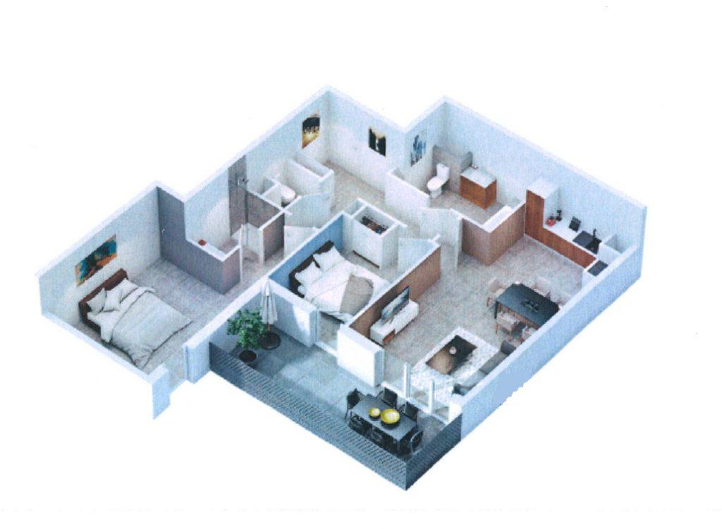 Appartement à vendre 3 65m2 à Gigean vignette-3
