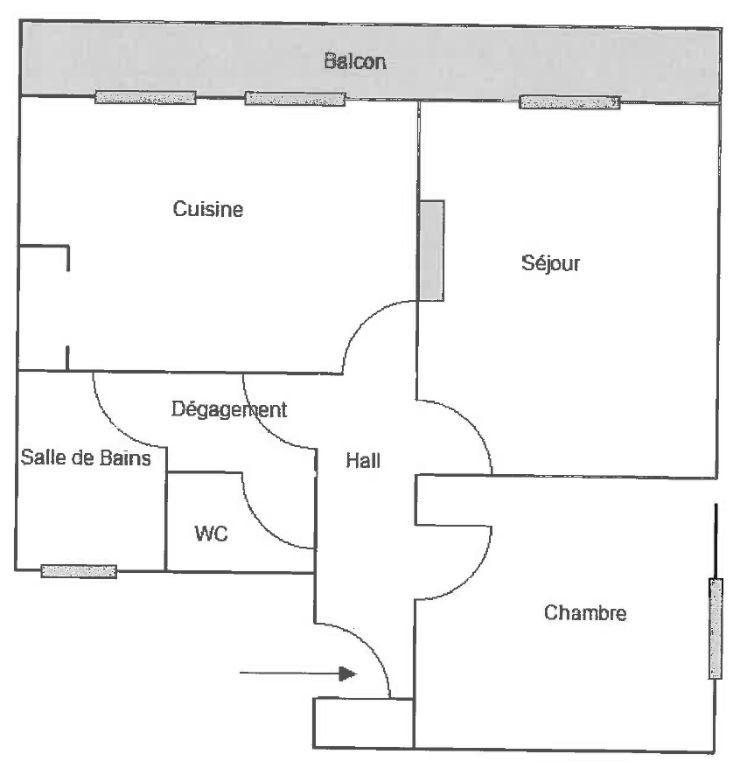 Appartement à louer 2 54.43m2 à Toulon vignette-6