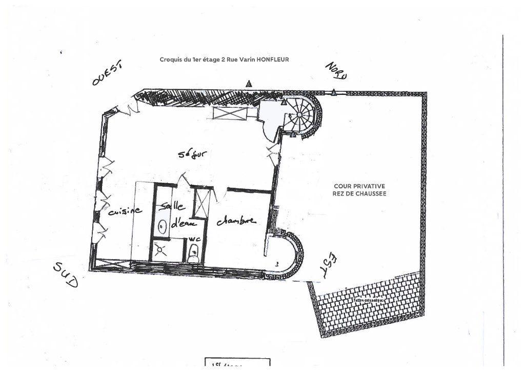 Appartement à louer 2 50m2 à Honfleur plan-1