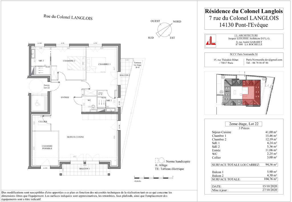 Appartement à vendre 3 94.56m2 à Pont-l'Évêque vignette-2