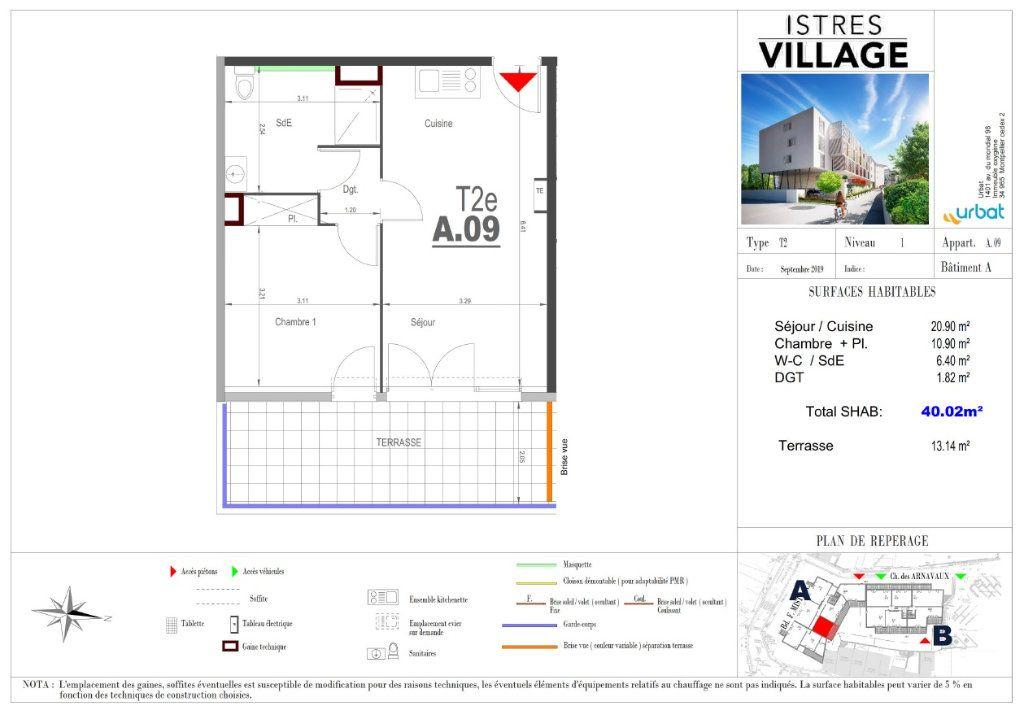 Appartement à louer 2 40.02m2 à Istres vignette-3