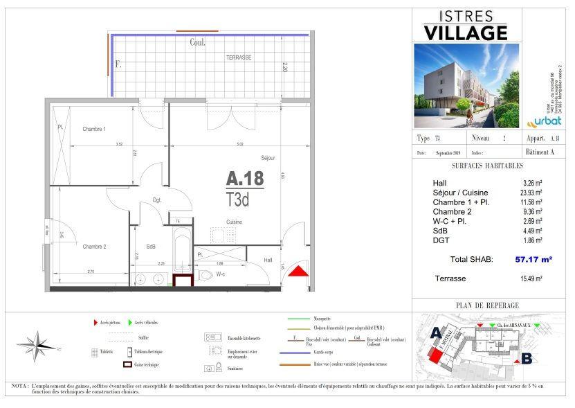 Appartement à louer 3 57.17m2 à Istres vignette-4
