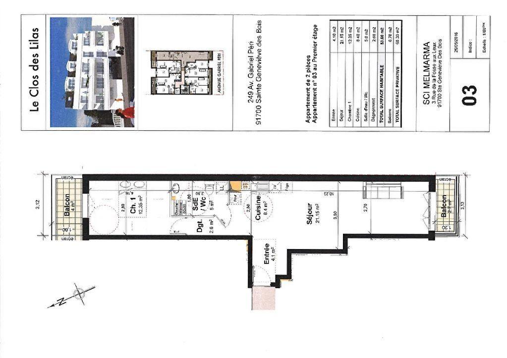 Appartement à louer 2 53.6m2 à Sainte-Geneviève-des-Bois vignette-6
