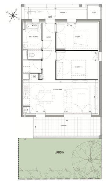Appartement à vendre 3 63.4m2 à Pau vignette-5