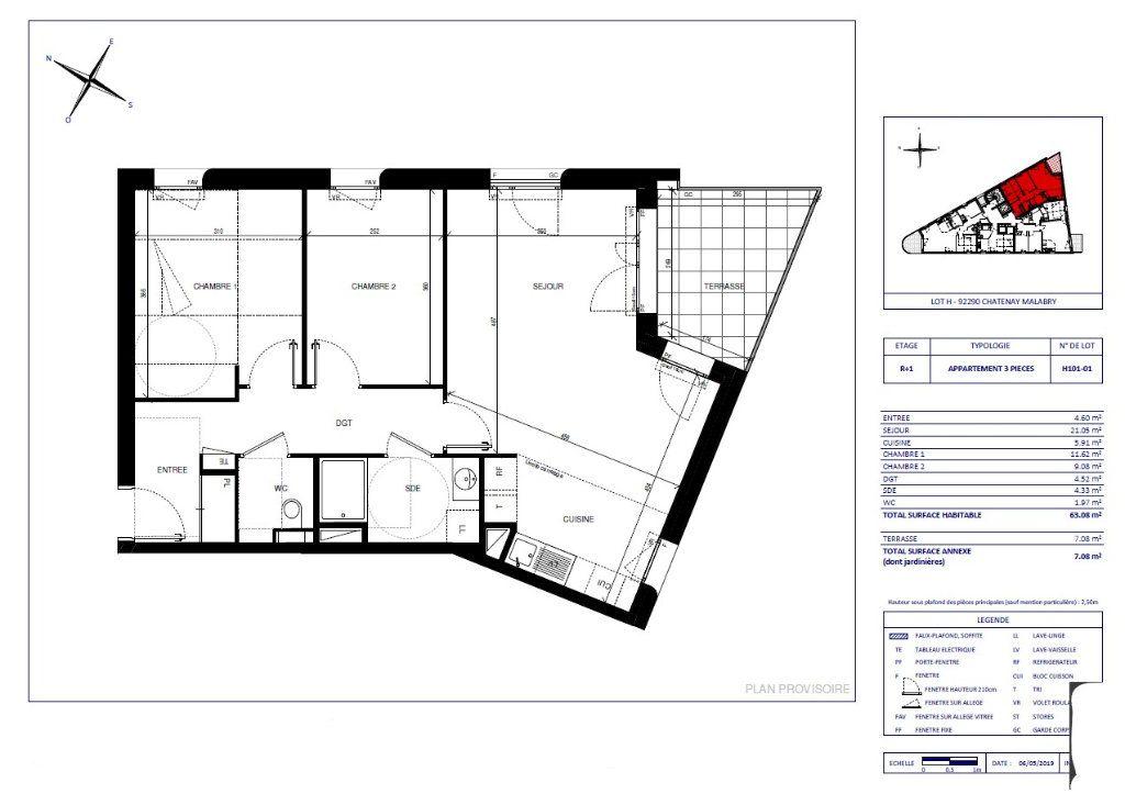 Appartement à vendre 3 63.08m2 à Châtenay-Malabry vignette-1