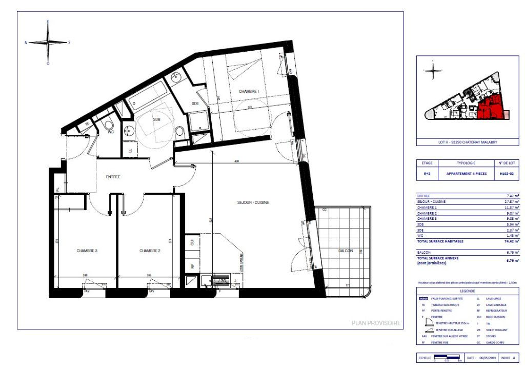 Appartement à vendre 4 74.42m2 à Châtenay-Malabry vignette-1