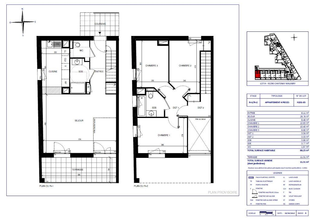 Appartement à vendre 4 88.25m2 à Châtenay-Malabry vignette-1
