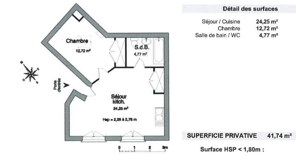 Appartement à louer 2 41.74m2 à Orsay vignette-9