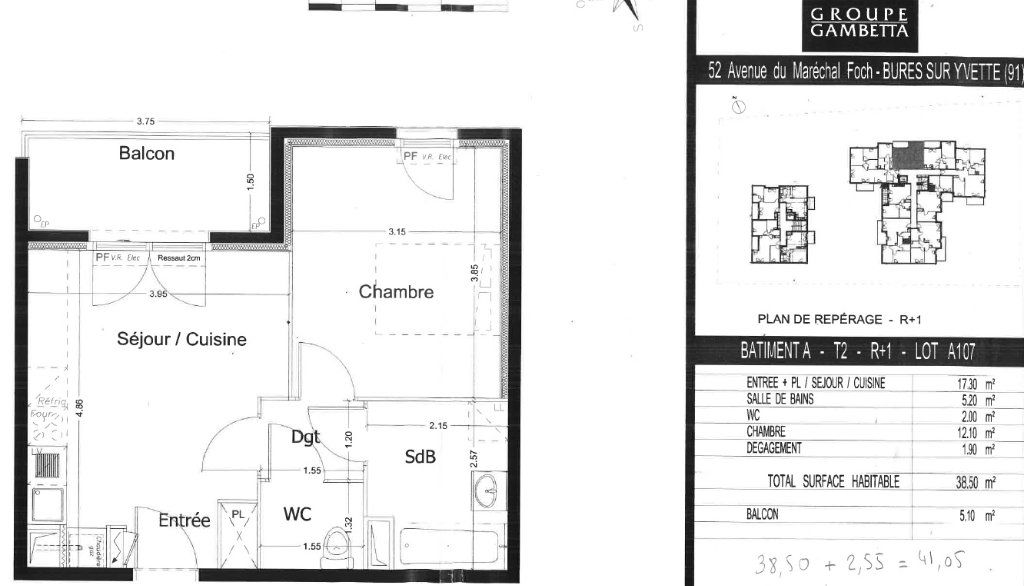 Appartement à louer 2 38.5m2 à Bures-sur-Yvette vignette-2
