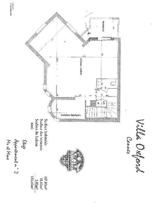 Appartement à vendre 4 109.88m2 à Cannes plan-1