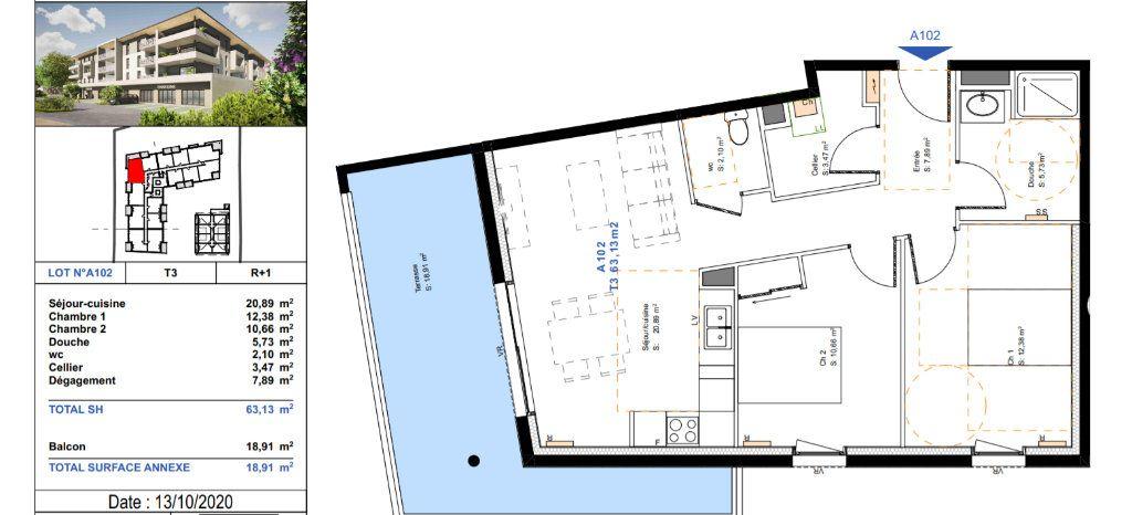 Appartement à vendre 3 63.13m2 à Saint-Paul-lès-Dax vignette-3