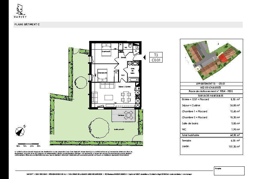 Appartement à vendre 3 64.5m2 à Biscarrosse vignette-3