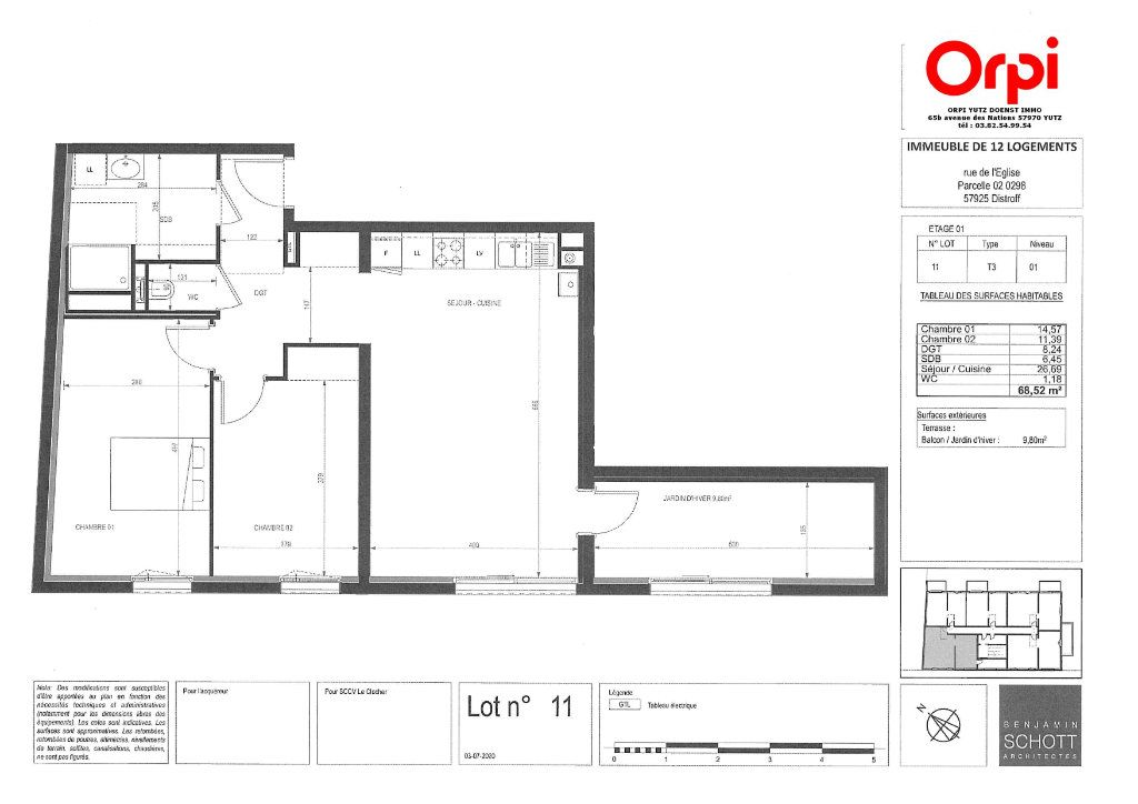 Appartement à vendre 3 68.52m2 à Distroff vignette-3