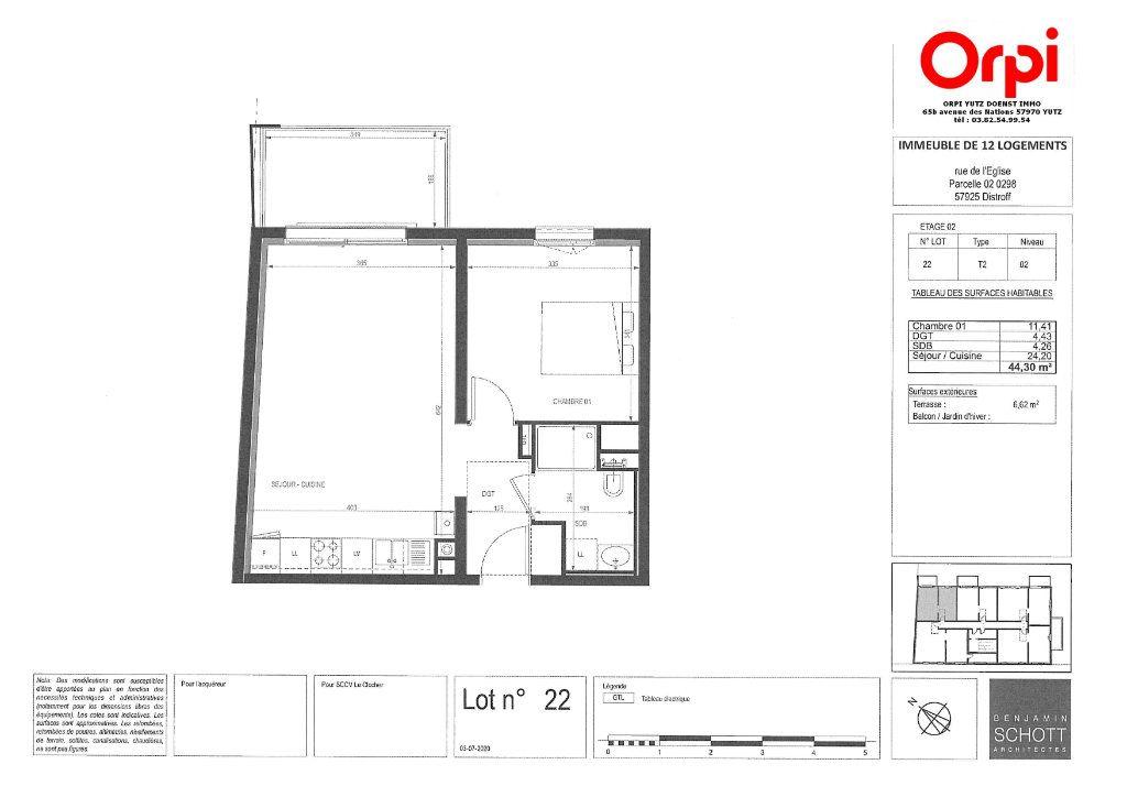 Appartement à vendre 2 44.3m2 à Distroff vignette-3