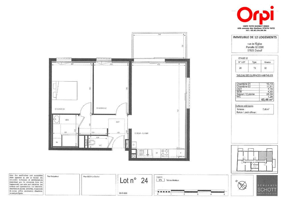 Appartement à vendre 3 63.46m2 à Distroff vignette-3