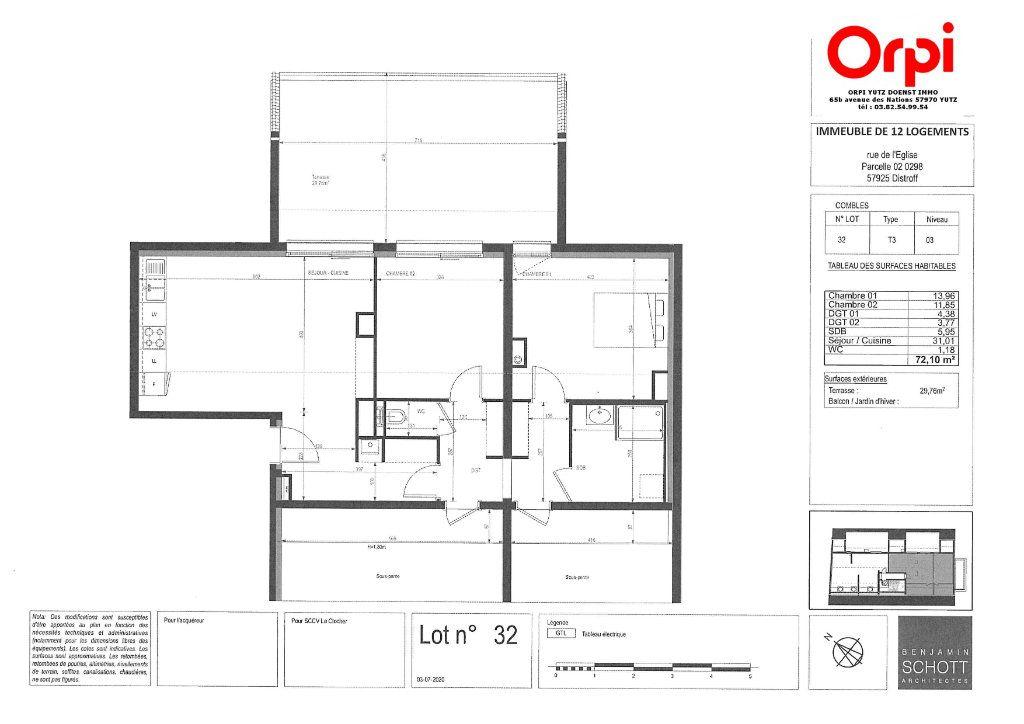 Appartement à vendre 3 72.1m2 à Distroff vignette-3