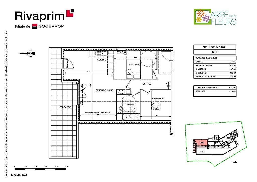 Appartement à vendre 3 63.42m2 à Nice vignette-2