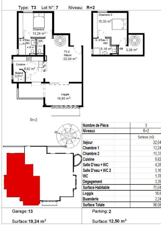 Appartement à vendre 3 96.08m2 à Ducos vignette-1