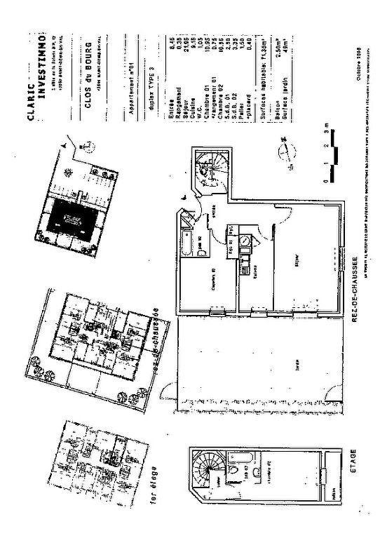 Appartement à vendre 3 71m2 à Saint-Denis-en-Val plan-1