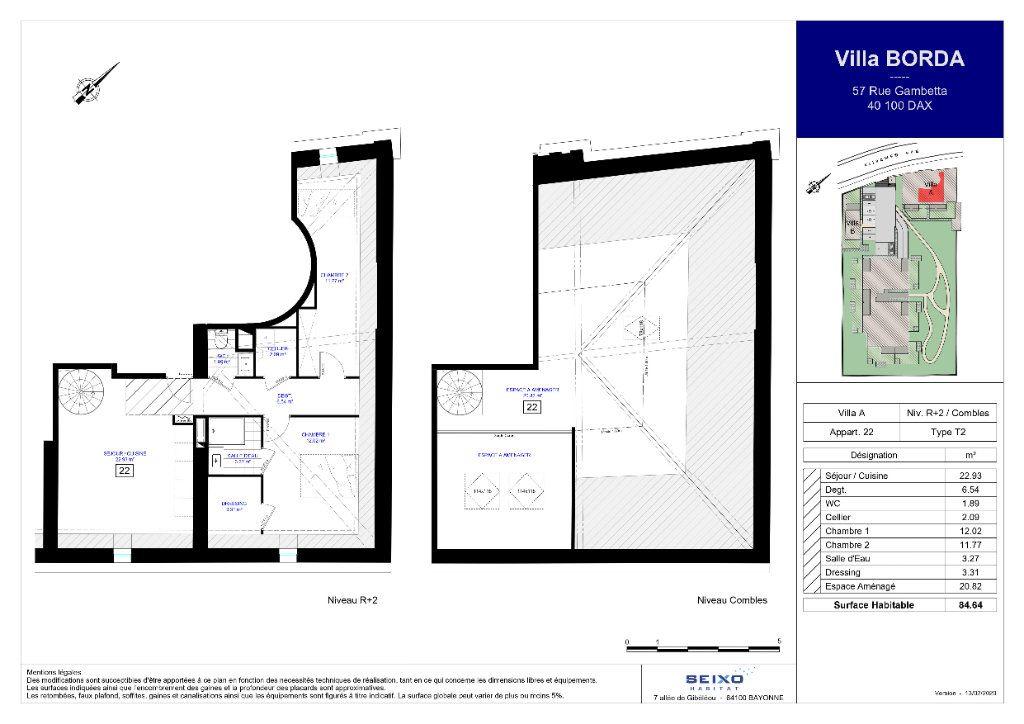 Appartement à vendre 3 84.64m2 à Dax vignette-2