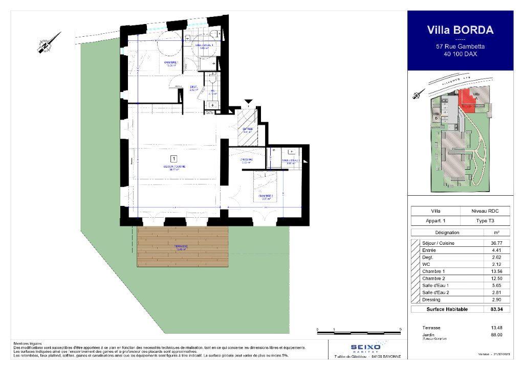 Appartement à vendre 4 83.34m2 à Dax vignette-3