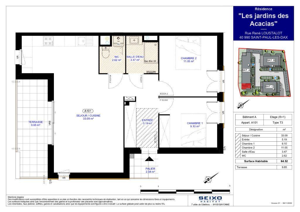 Appartement à vendre 3 64.52m2 à Saint-Paul-lès-Dax vignette-2