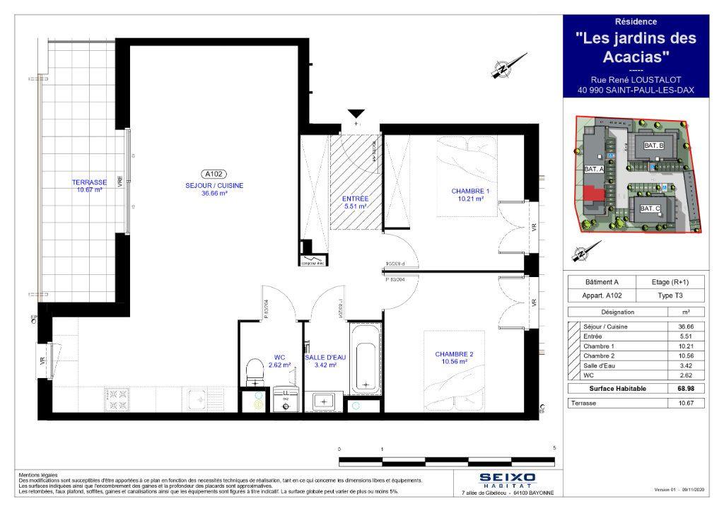 Appartement à vendre 3 68.98m2 à Saint-Paul-lès-Dax vignette-2