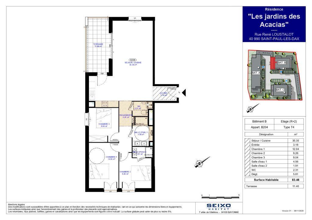 Appartement à vendre 4 83.46m2 à Saint-Paul-lès-Dax vignette-2