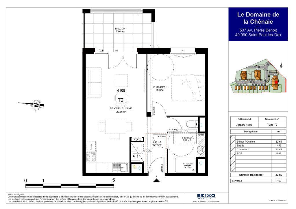 Appartement à vendre 2 43.5m2 à Saint-Paul-lès-Dax vignette-2