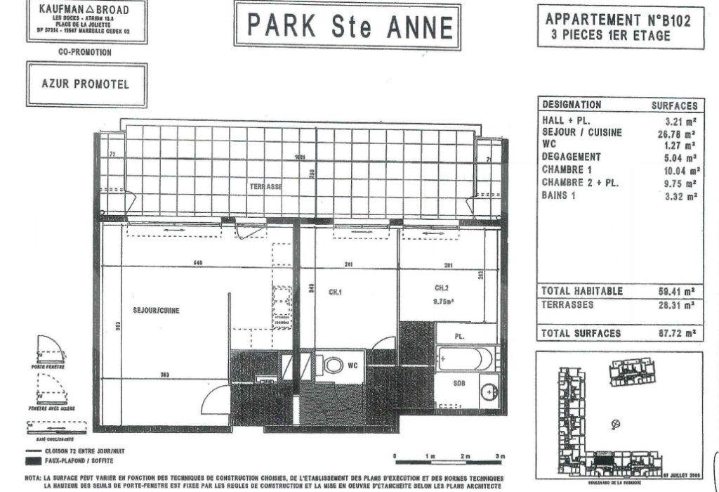 Appartement à louer 3 60m2 à Marseille 9 vignette-4